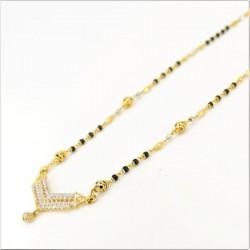 Mangalsutra Pendant and Earrings Set - 2