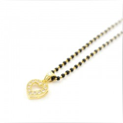 C/Z Heart Pendant on a Mangalsutra Chain - 1