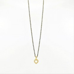 C/Z Heart Pendant on a Mangalsutra Chain - 2