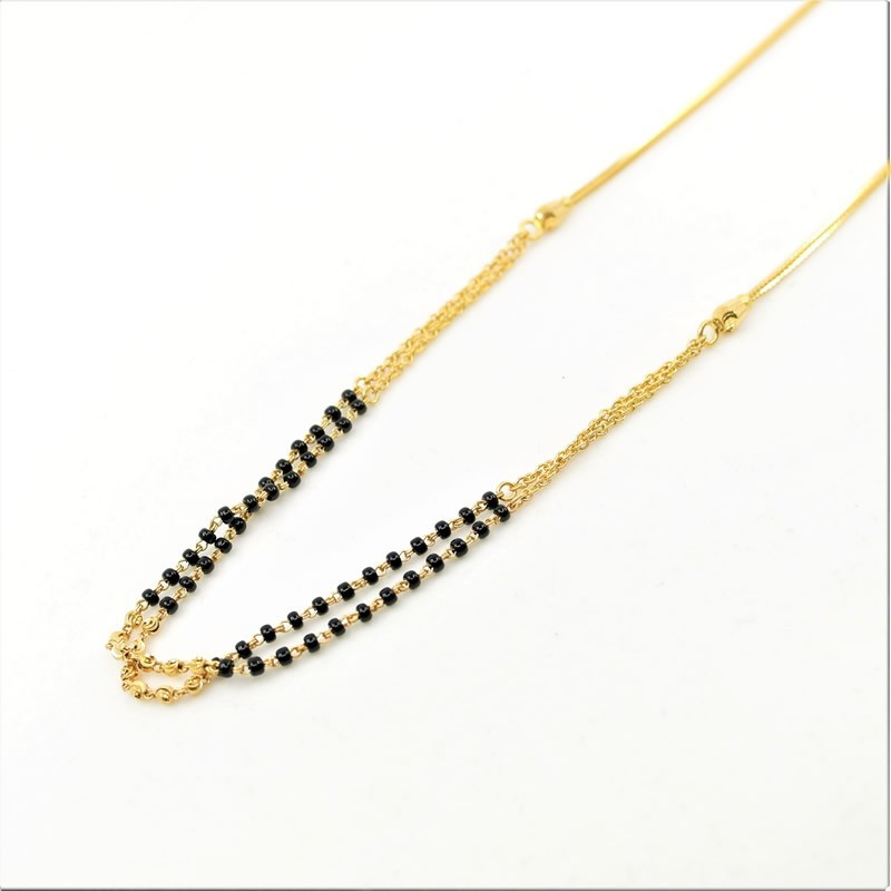 Simple Double Chain Mangalsutra