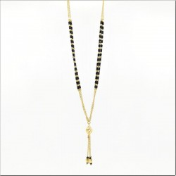 Gold Chain and Black Bead Mangalsutra - 2