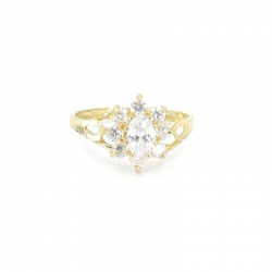 Ladies Oval-cut Stone Ring
