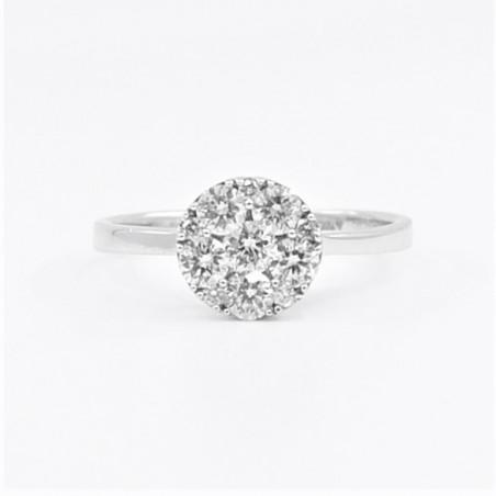 0.65ct Diamond Ring in 18ct White Gold