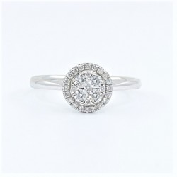 0.25ct Halo Diamond Ring in 18ct White Gold