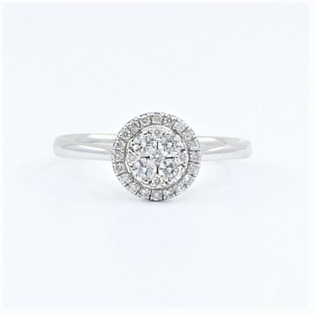 0.25ct Diamond Ring in 18ct White Gold