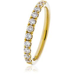 Diamond Split Claw Half Eternity Ring