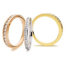 Diamond Channel Set Half Eternity Ring