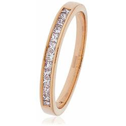 Diamond Princess Cut Channel Set Half Eternity Ring