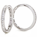 Diamond Princess Cut Channel Set Full Eternity Ring