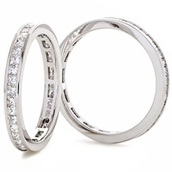 Diamond Princess Cut Channel Set Full Eternity Ring