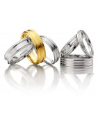 wedding band rings in White Gold, Platinum and Silver