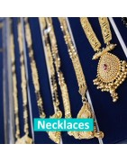 Necklaces, Necklets, Mangalsutras and Chains in 22ct Gold all available online or in a Leicester jewellery store!